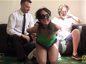 slapped uk marionette fed a mouthful of doms spunk