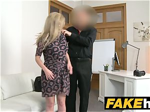 fake Agent hot ash-blonde giant breasts Russian gets a facial cumshot