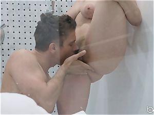 Lena Paul shower boink with hunky German Mick Blue