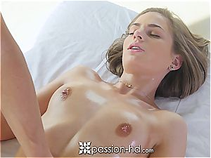 sexy Sydney Cole rails her stud on Valentine's Day