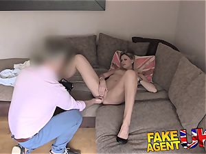 FakeAgentUK climaxes buttfuck fuck-fest and drizzling in interview