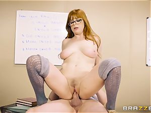 Classroom jizm action with mischievous sandy-haired teacher Penny Pax