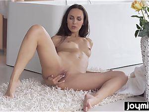 Joymii- super-hot stunner Lilu rails huge faux-cock