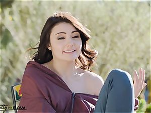 Pretty and raw - Adria Rae first IR double penetration