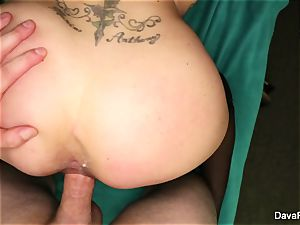 black-haired cutie Dava gets nailed point of view style