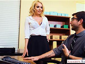 cougar Aaliyah enjoy seduced by draped pc technicians