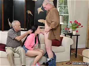 elderly platinum-blonde grandmother and youthful couples outdoors Dukke the Philanthropist