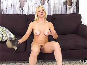 Sarah Vandella romps on web cam and fucktoys her puss to ejaculation