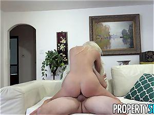 Property fuckfest blonde Landlady Xandra Sixx fucks Tenant