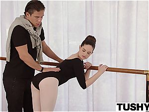 TUSHY young Ballerina explores anal lovemaking with instructor