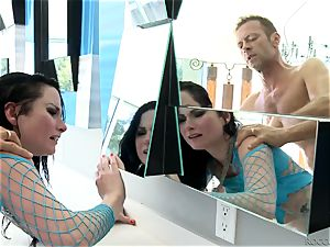 Veruca James and Abella Danger getting nailed by Rocco Siffredi