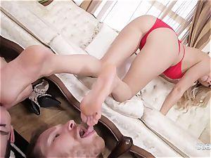 Headmistress Alexis Fawx predominates her discreet servants
