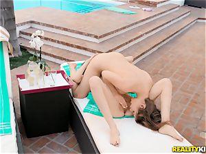 Rose ebony and Kayla Paris tonguing vulva