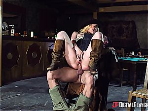 pulverizing the naughtiest cowgirl in the whole ultra-kinky West
