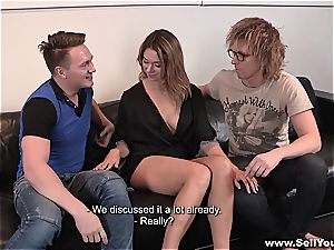 Amber is plowed rock-hard while her guy witnesses