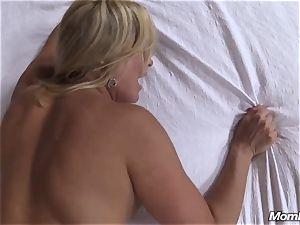 sizzling blonde mummy internal cumshot delectation