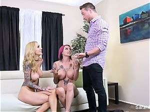 Anna Bell surprises her hubby with Sarah Jessie