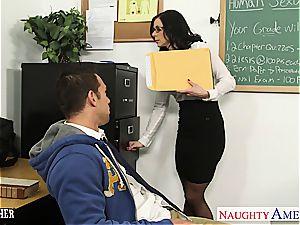 brunette schoolteacher Kendra eagerness gets facialized