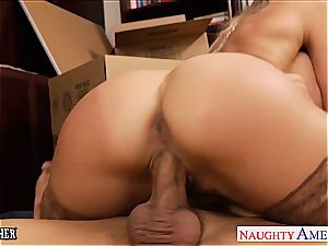 molten tutor Brandi enjoy gags on his huge penis