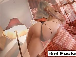 Brett Rossi does a luxurious tease in her motel room