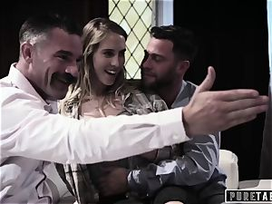 pure TABOO stunner Tricked Into revenge three-way with Strangers