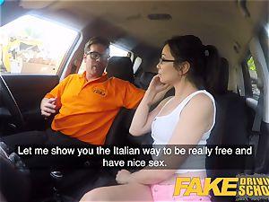 fake Driving school steamy Italian nymphomaniac minx