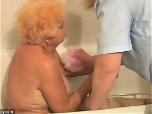 OldNanny grandmother plus-size action compilation