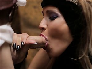 Mean princess Jessica Drake bans her servant
