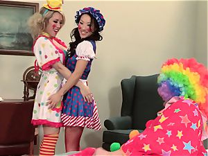 super-steamy spies Asa Akira and Capri Cavanni clowning around