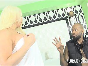 immense tit milf Alura Jenson porks her dark-hued Boober driver