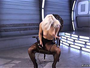 unreal blondie hottie anal boinks machine